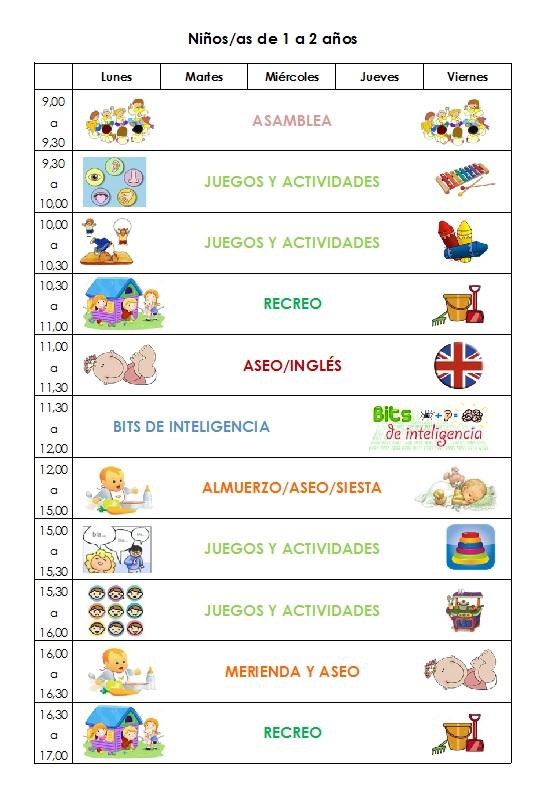 Horarios De Actividades Escuela Infantil Y Guardería En La Rozas